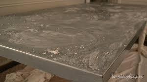 Zinc Top Bar Table Diy Zinc Top Kitchen Table Beneath My