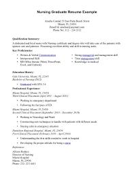nursing job resume