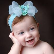 headband baby bling aqua blue mist bow headband