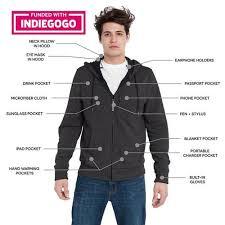 travel jacket images Baubax travel sweatshirt at brookstone buy now jpg