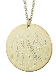 Personalized Disc Necklace 1 Inch 12k Gold Plated Engraved Disc Necklace U2013 Initial Obsession
