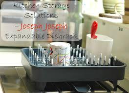 kitchen storage solutions u2013 joseph joseph expandable dishrack