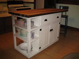 white kitchen island cart with butcher block catskill preston