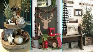 diy shabby chic style rustic christmas decor ideas home