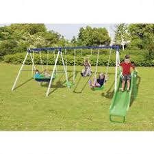 Sears Backyard Playsets Sportspower Grove Park 4 Leg Metal Swing Set Shop Your Way