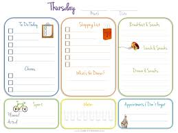 daily diary template for child care