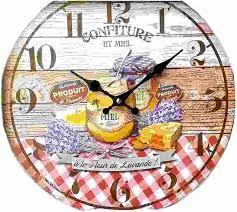 pendule cuisine horloge pendule metal bombée roses
