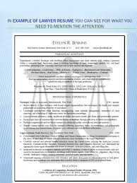 Family Law Attorney Resume Sample by Family Law Legal Assistant Resume Sample