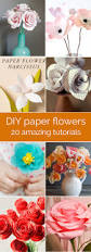 20 diy paper flower tutorials paper flower tutorial flower