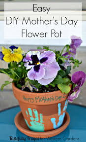 diy flower pot mother u0027s day gift