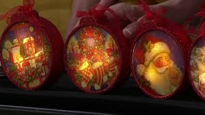 set of 5 illuminated ornaments with gift boxes by valerie on qvc