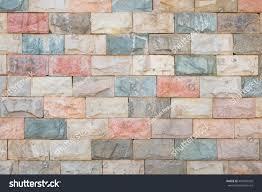 home texture multicolor stone ceramic brick wall beautiful stock photo