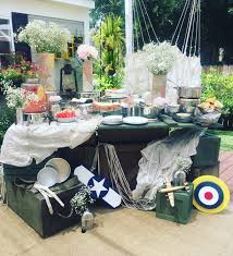 diy boho aviation wedding buffet table decor on hallmark u0027s home