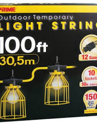 100ft 12 3 sjtw yellow 10 light u ground light string w metal