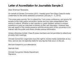 letter of accreditation