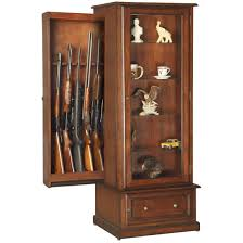 hidden gun curio cabinet concealment furniture pinterest