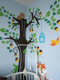 Forest Nursery Wall Decals by 406 Project Nursery U2013 Step 7 Fabulous Baby Decals