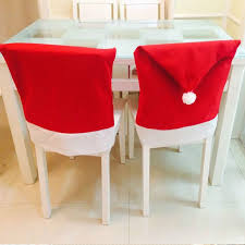 christmas chair back covers 6pcs lot christmas chair back cover hat christmas decorations for