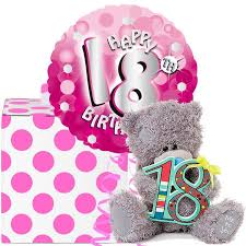 balloons for 18th birthday 18th birthday helium balloon in a box and tatty teddy 18th