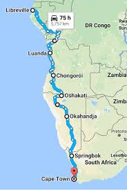 Gabon Map Expedition From Kazakstan To South Africa