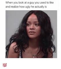 Ugly Black Guy Meme - when you look at a guy you used to like and realize how ugly he