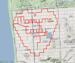 san francisco map my run san francisco cyclist uses gps app strava to map out marriage