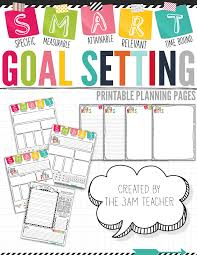 Setting Worksheets The 3am Teacher S M A R T Goal Setting Tips U0026 Printable Templates