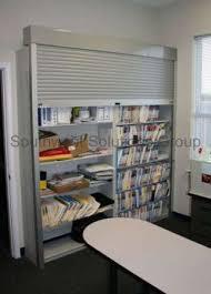 Bookcase With Lock Rolling Tambour Shelving Doors Locking Roll Up Security Door