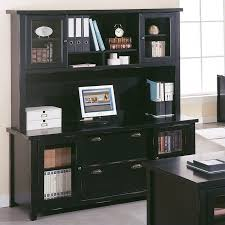 Computer Hutch With Doors Kathy Ireland Home By Martin Tribeca Loft Black Credenza With