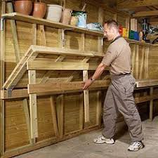 great tidy and efficient garage with husky workbench make it