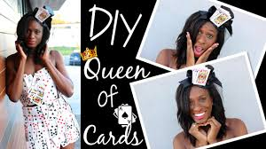diy queen of cards halloween costume youtube