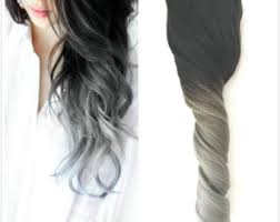 salt and pepper tape in hair extentions grey hair extensions etsy