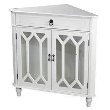 antique white corner cabinet amazon com heather ann creations modern 2 door corner cabinet with