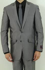 light gray suit brown shoes men s two button charcoal slim fit suit nail head pattern men suits