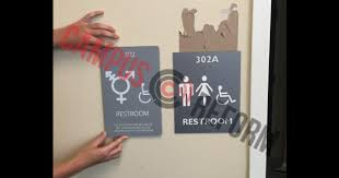 gender neutral bathroom signs threaten our u0027safe space u0027 unc