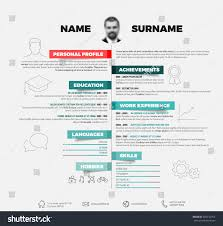 Resume Templates Minimalist by Vector Minimalist Cv Resume Template Red Stock Vector 566232754