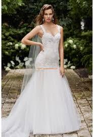 robe de mari e sirene robe de mariée sirène blanche avec bretelles applique de dentelle