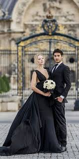 and black wedding 21 black wedding dresses with edgy elegance alternative
