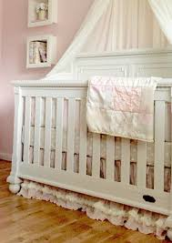 Truly Scrumptious Crib Bedding A Pink And Grey Nursery That Soothes And Calms A Princess