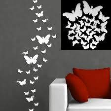 3d mirror butterfly wall stickers home decor decal wall art see larger image