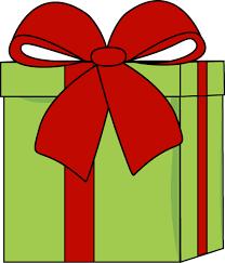 big present bow christmas gift with a big bow clip christmas gift with a big