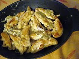 recette d aiguillettes de poulet aux chignons