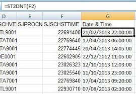 excel date format to mysql excel function to convert f91300 schsttime in jde to dd mm yy hh mm