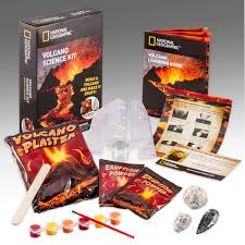 amazon com volcano science kit by national geographic toys u0026 games