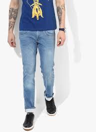wrangler light blue jeans buy wrangler light blue washed regular fit jeans for men online