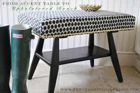 Coffee Table Into Bench Diy Turn An Accent Table Into An Uphostered Bench The