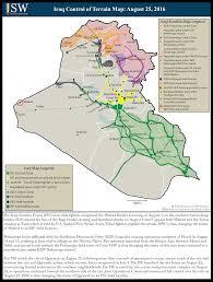 Map Iraq Isw Blog Iraq Control Of Terrain Map August 25 2016