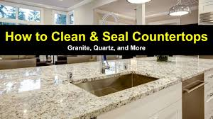 Caring For Granite Kitchen Countertops How To Clean And Seal Countertops Granite Quartz And More