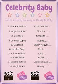 baby shower games celebrity baby quiz unisex pack of 10 cards
