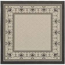 Square Indoor Outdoor Rugs Safavieh Courtyard Black Beige 7 Ft 10 In X 7 Ft 10 In Square
